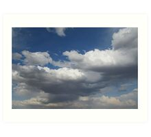 stormclouds moving in Art Print
