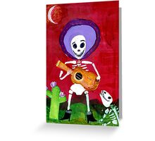 Mariachi Day of the Dead Skeleton  Greeting Card