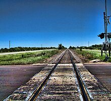 Rail Road Crossing at Nowhere by WarfareFX