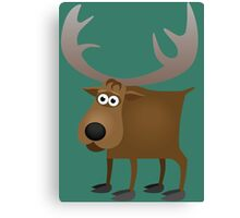 Silly friendly deer Canvas Print
