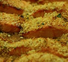 Salmon with Citrus Cilantro Crust by molicophoto