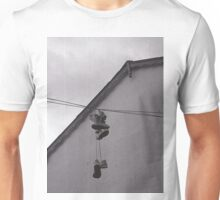 Sneakers on a Wire Unisex T-Shirt