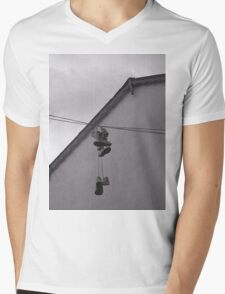 Sneakers on a Wire Mens V-Neck T-Shirt