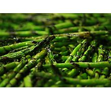 Grilled Asparagus w/ Balsamic Glaze Photographic Print