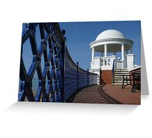 Bexhill in Blue Greeting Card