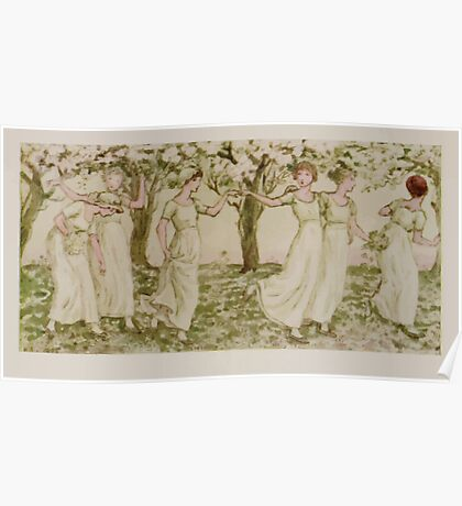 Kate Greenaway Collection 1905 0543 The May Dance Poster