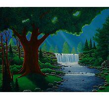 Moonlit Falls Photographic Print