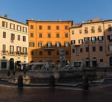 Rome's Fabulous Fountains - Fountain of Neptune, Piazza Navona, Rome, Italy by Georgia Mizuleva