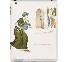 The Pied Piper of Hamlin Robert Browning art Kate Greenaway 0037 Out Came the Children Running iPad Case/Skin