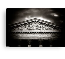 ...And Justice for All Canvas Print