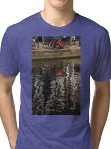 The Red Amsterdam Bicycle   Tri-blend T-Shirt