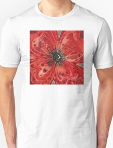 Red Flower 1 - Vibrant Red Floral Art T-Shirt