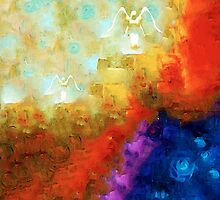 Angels Among Us - Emotive Spiritual Healing Art by Sharon Cummings