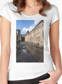 Reflecting on Pompeii Women's Fitted Scoop T-Shirt