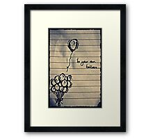 Balloon Blues Framed Print