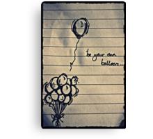 Balloon Blues Canvas Print