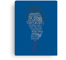 Tenth Doctor Word Art Canvas Print