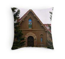Our Lady of the Mountain Catholic Church Throw Pillow