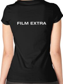 Film Extra (White Text) Women's Fitted Scoop T-Shirt