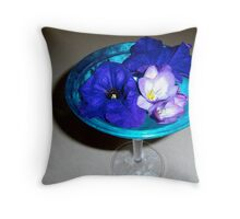 "Drunk on ""Flower Martinis"" Throw Pillow"
