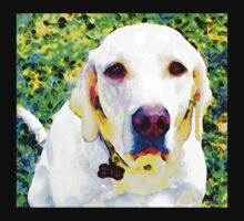 You Are My World - Yellow Lab Art Baby Tee