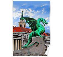 Dragon Bridge, Ljubljana, Slovenia Poster