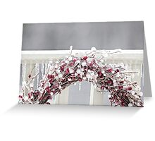 Iced Red Berry Wreath Greeting Card