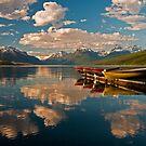 Boats at Lake McDonald, Glacier National Park by Gary Lengyel