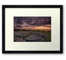 Frogs gob sunset Framed Print