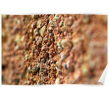 Macro abstract of brickwork Poster
