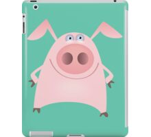 Funny pink pig iPad Case/Skin