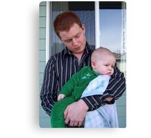 Father and Son Canvas Print