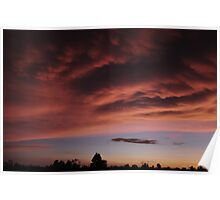 Pink Sunset at Berry Springs Poster