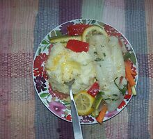 bacalao and veggies by jadelise
