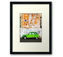 Green Car - Argentina Framed Print
