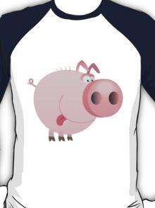 Funny joking pig  T-Shirt