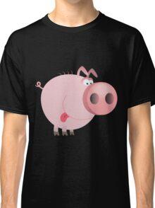 Funny joking pig  Classic T-Shirt