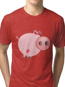 Funny joking pig  Tri-blend T-Shirt