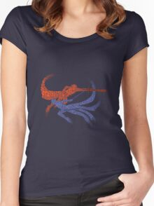 Distorted Combo Women's Fitted Scoop T-Shirt