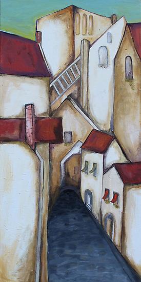 A Tuscan village by Jenny Wood