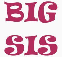 """Big Sis"" Kid's T- Shirt (Big Sister) Kids Clothes"