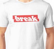 'break' Minimal Cool Design Unisex T-Shirt