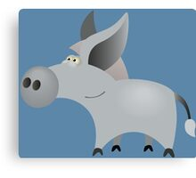 Cute little donkey Canvas Print