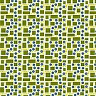 Olive Green and Blue Pattern by Melissa Park