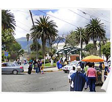 People Of Otavalo, Ecuador Poster