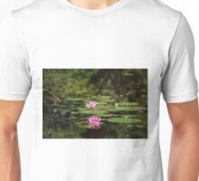 Water-lilies  on a forest lake. Unisex T-Shirt