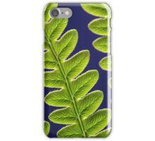 Macro photo of a bracken fern leaf (Pteridium aquilinum) iPhone Case/Skin