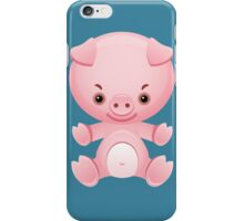 Little frown pig iPhone Case/Skin