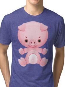 Little frown pig Tri-blend T-Shirt