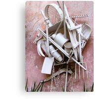 Garden tools in white Canvas Print